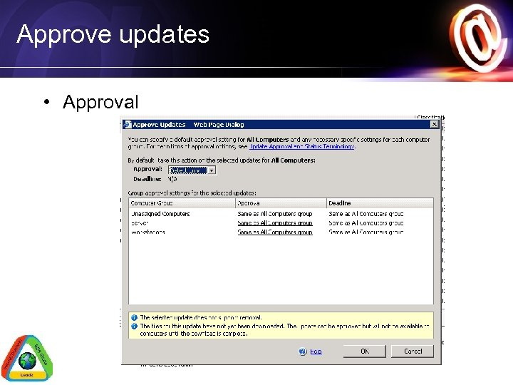 Approve updates • Approval