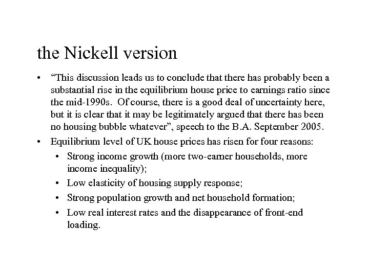 "the Nickell version • ""This discussion leads us to conclude that there has probably"