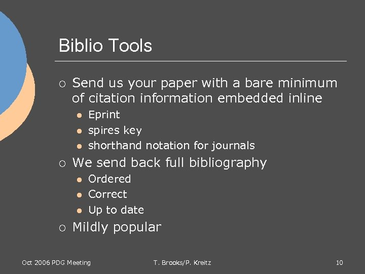 Biblio Tools ¡ Send us your paper with a bare minimum of citation information