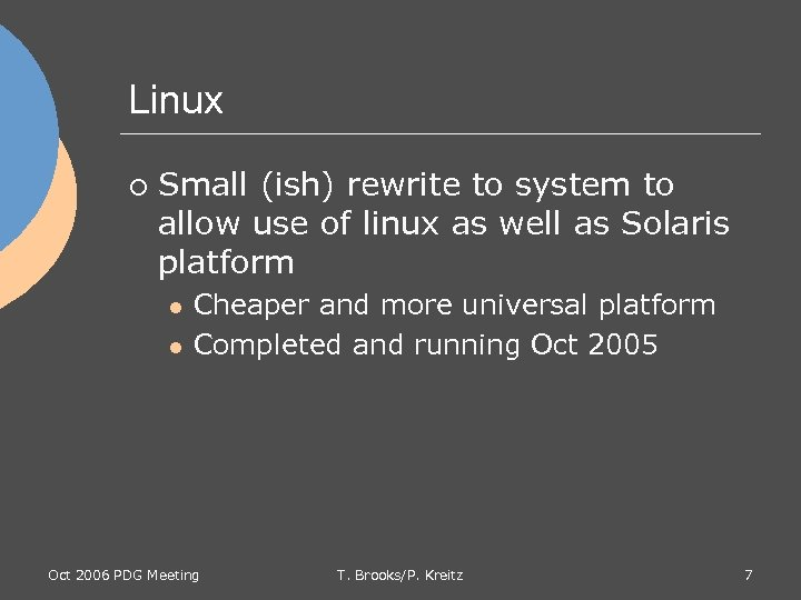 Linux ¡ Small (ish) rewrite to system to allow use of linux as well