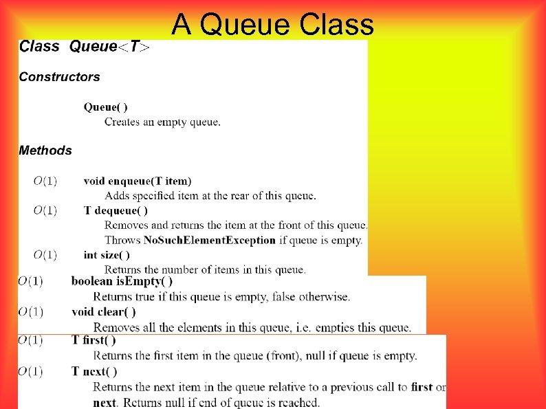 A Queue Class