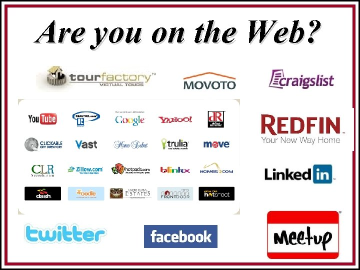 Are you on the Web?