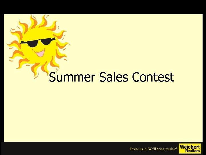 Summer Sales Contest