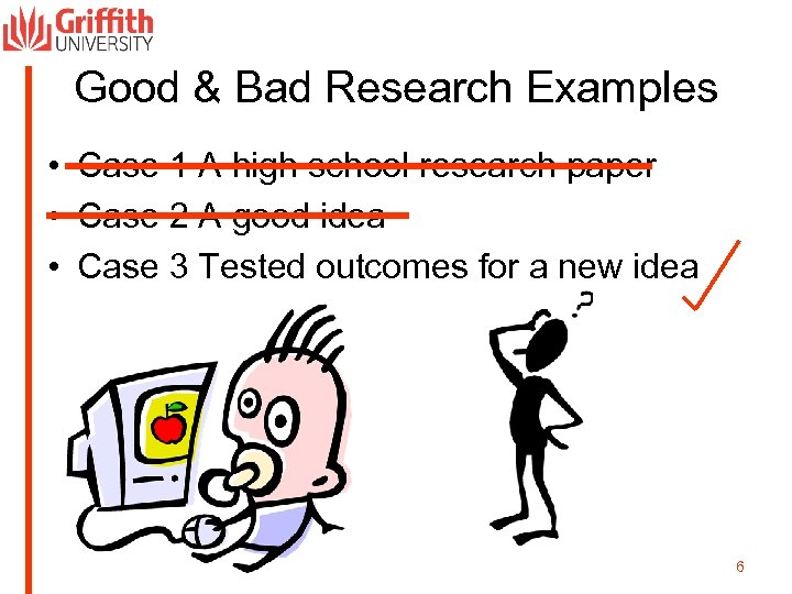 Good & Bad Research Examples • Case 1 A high school research paper •