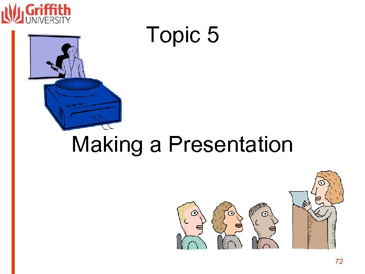 Topic 5 Making a Presentation 72
