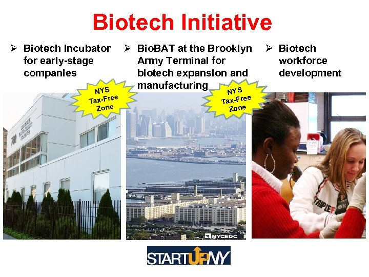 Biotech Initiative Biotech Incubator Bio. BAT at the Brooklyn Biotech for early-stage Army Terminal
