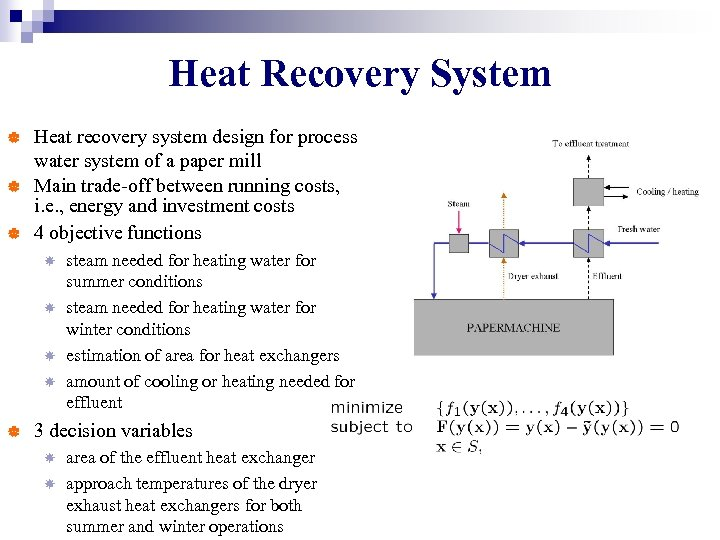 Heat Recovery System | | | Heat recovery system design for process water system