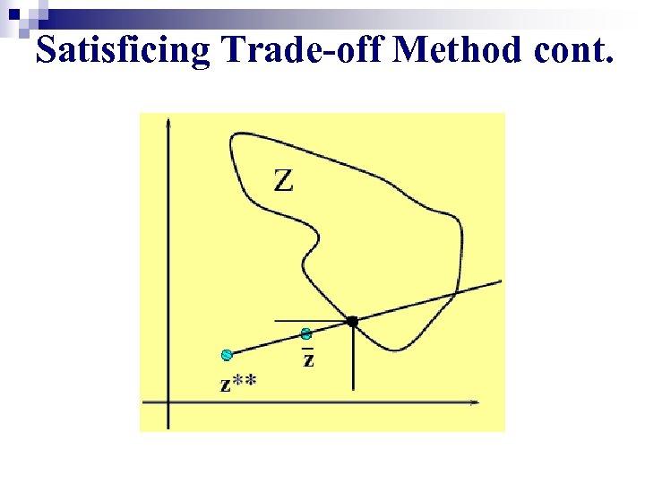 Satisficing Trade-off Method cont.