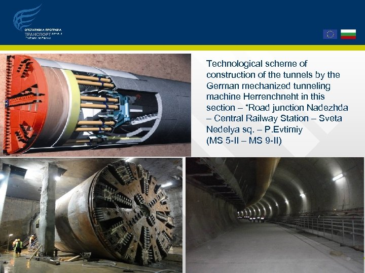 Technological scheme of construction of the tunnels by the German mechanized tunneling machine Herrenchneht