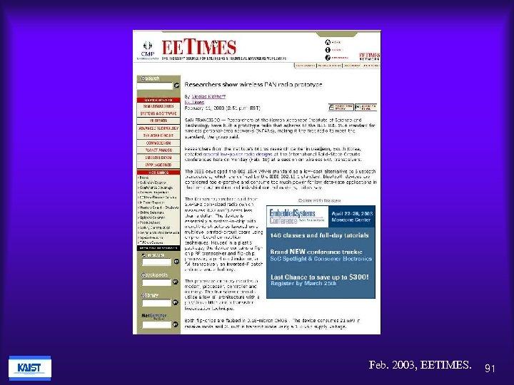 Feb. 2003, EETIMES. 91