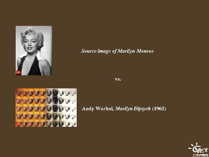 Source image of Marilyn Monroe vs. Andy Warhol, Marilyn Diptych (1962)