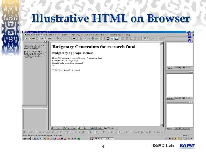 Illustrative HTML on Browser 14 IIS/EC Lab
