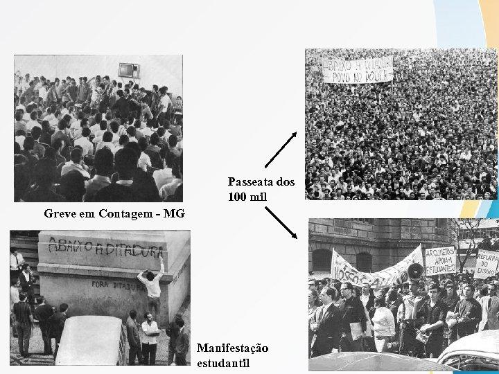 Passeata dos 100 mil Greve em Contagem - MG Manifestação estudantil