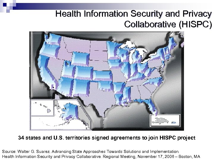 Health Information Security and Privacy Collaborative (HISPC) Review of State Findings 34 states and