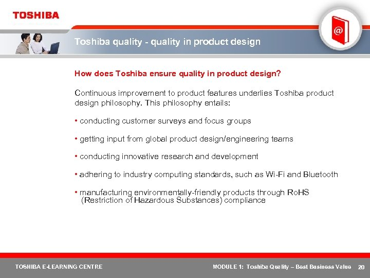 Toshiba quality - quality in product design How does Toshiba ensure quality in product