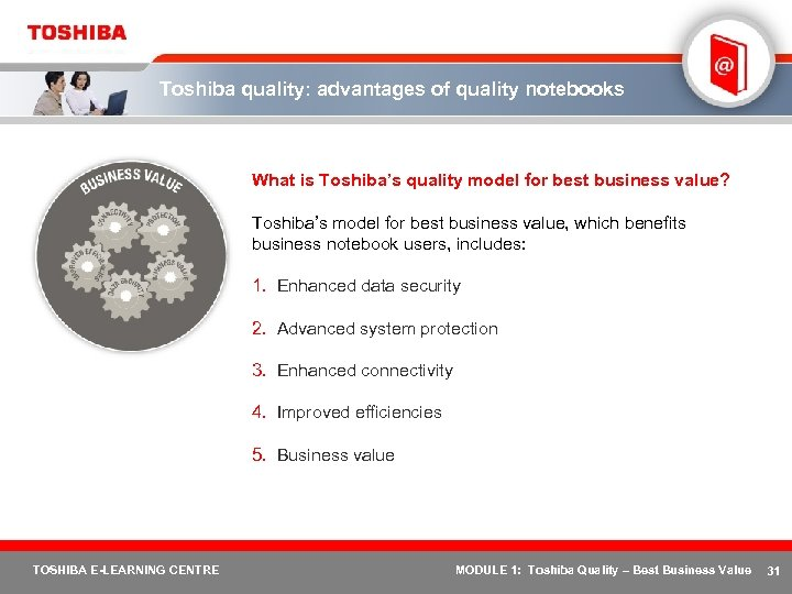 Toshiba quality: advantages of quality notebooks What is Toshiba's quality model for best business