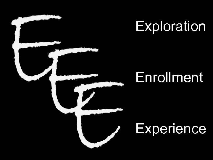 Exploration Enrollment Experience