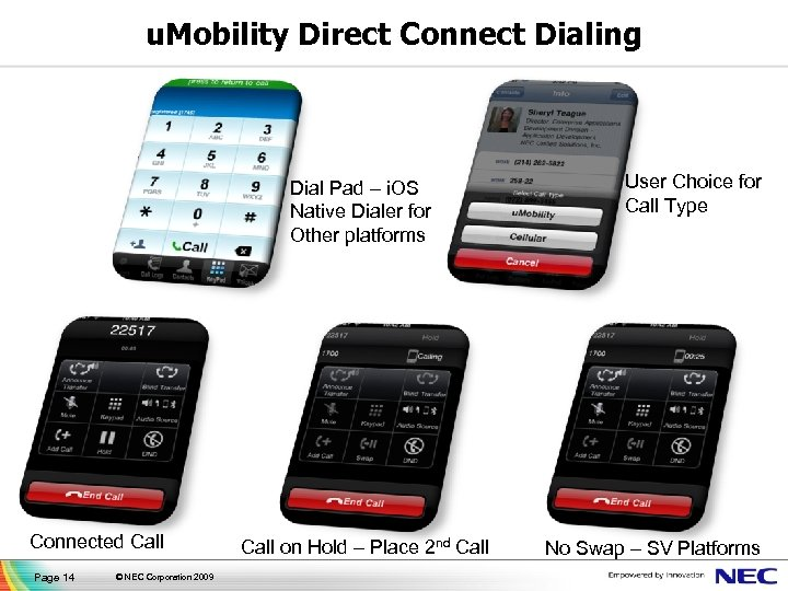 u. Mobility Direct Connect Dialing Dial Pad – i. OS Native Dialer for Other