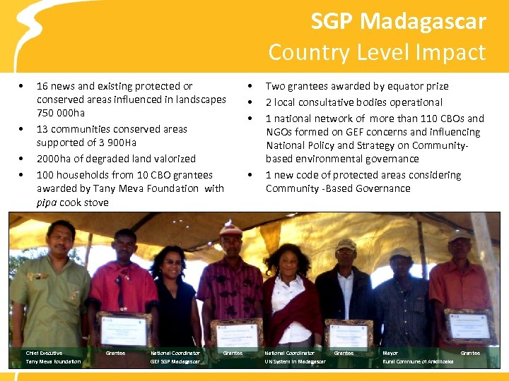 SGP Madagascar Country Level Impact • • 16 news and existing protected or conserved