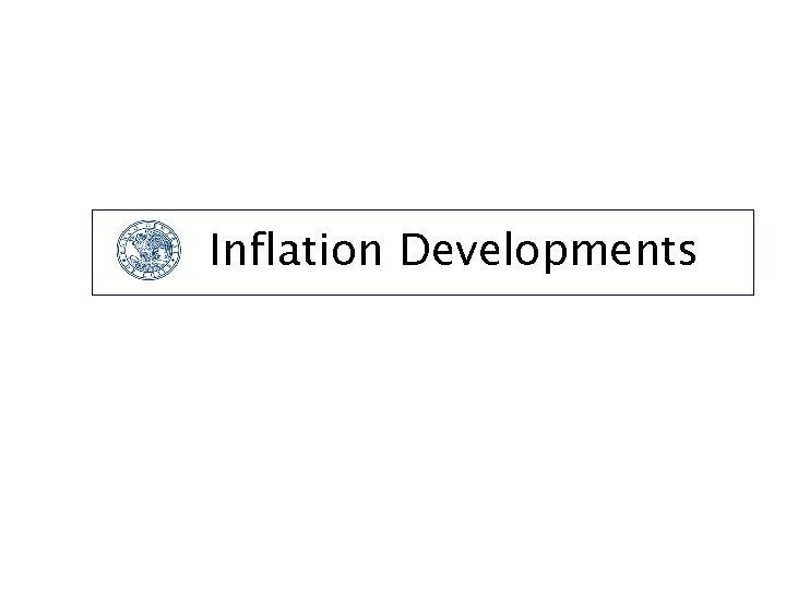 Inflation Developments