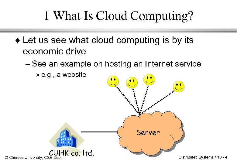 1 What Is Cloud Computing? Let us see what cloud computing is by its