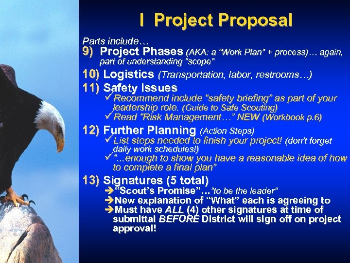 """I Project Proposal Parts include… 9) Project Phases (AKA: a """"Work Plan"""" + process)…"""