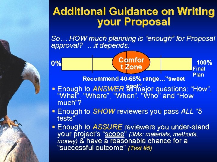 """Additional Guidance on Writing your Proposal So… HOW much planning is """"enough"""" for Proposal"""