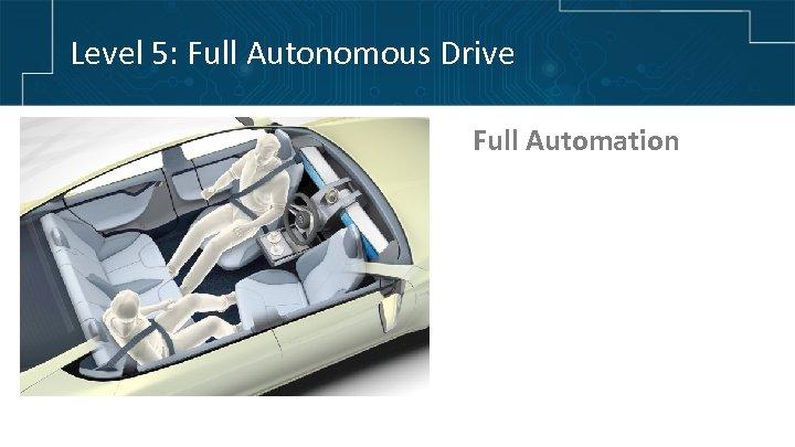 Level 5: Full Autonomous Drive Full Automation