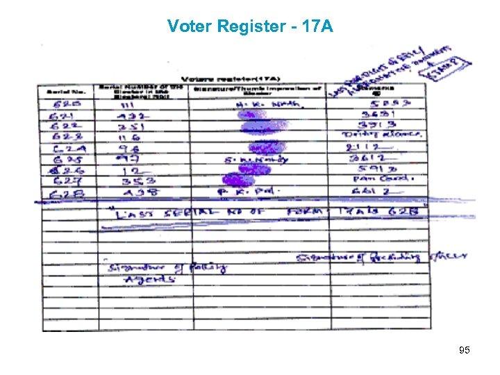 Voter Register - 17 A 95