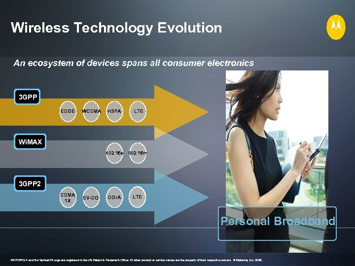 Wireless Technology Evolution An ecosystem of devices spans all consumer electronics 3 GPP EDGE