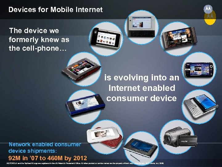 Devices for Mobile Internet The device we formerly knew as the cell-phone… is evolving