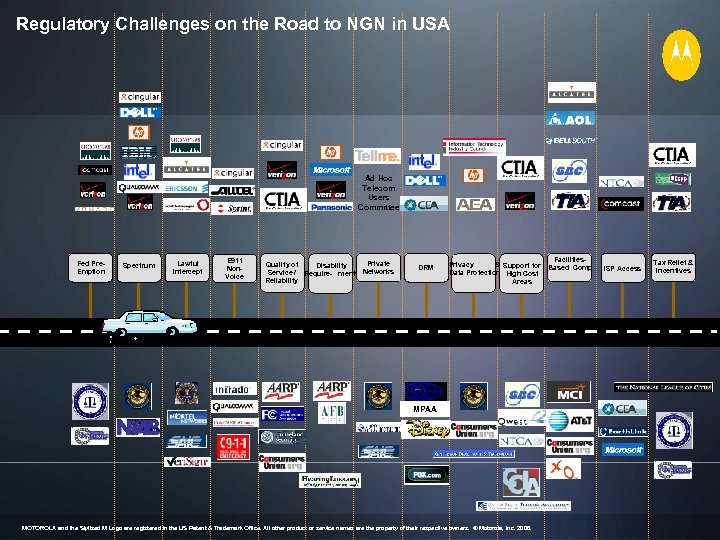 Regulatory Challenges on the Road to NGN in USA Ad Hoc Telecom Users Committee