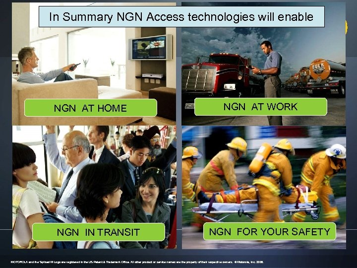 In Summary NGN Access technologies will enable NGN AT HOME NGN IN TRANSIT NGN