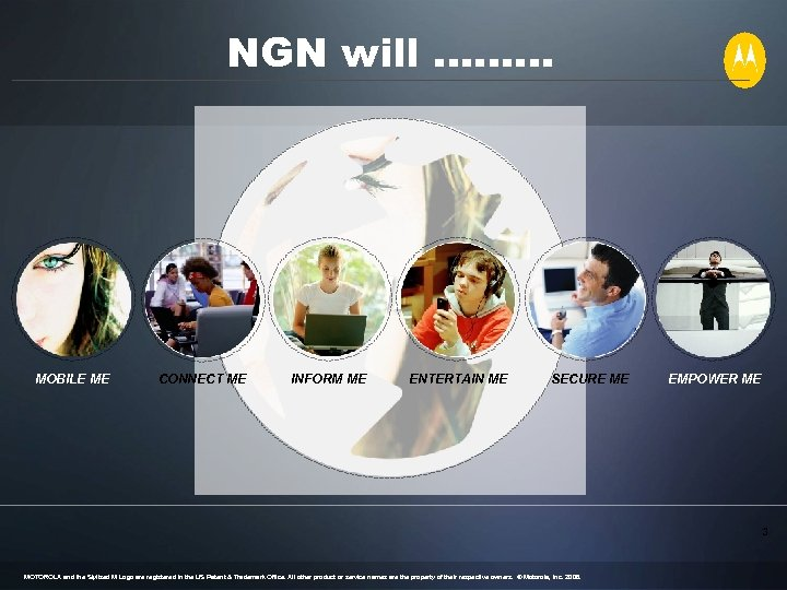 NGN will ……… MOBILE ME CONNECT ME INFORM ME ENTERTAIN ME SECURE ME EMPOWER