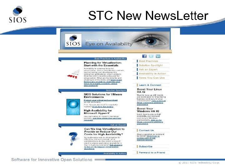 STC News. Letter