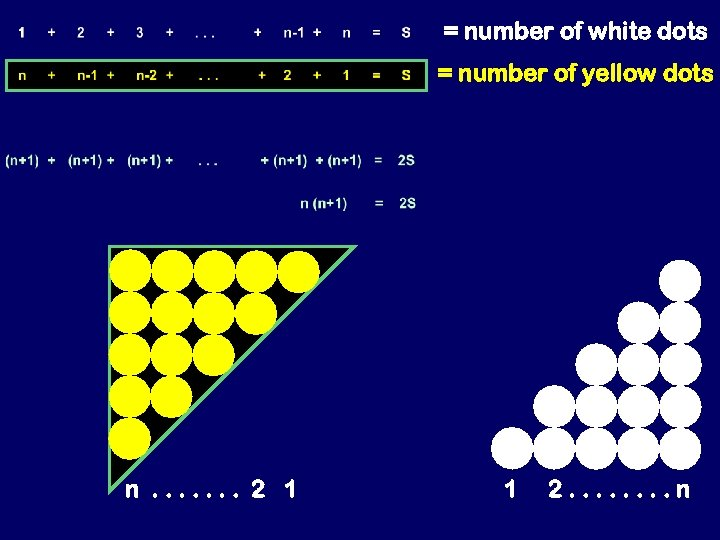 = number of white dots = number of yellow dots n. . . .