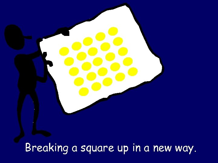 Breaking a square up in a new way.