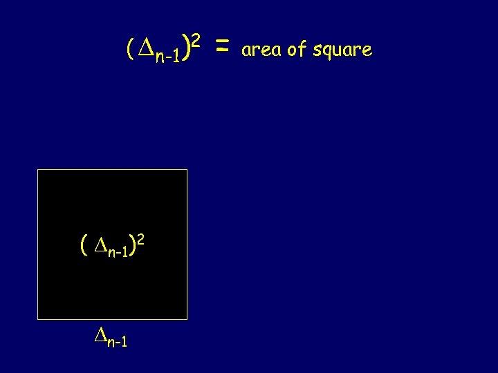 ( n-1)2 n-1 = area of square