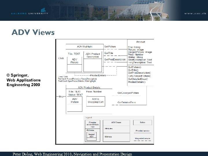 ADV Views © Springer, Web Applications Engineering 2009 Peter Dolog, Web Engineering 2010, Navigation