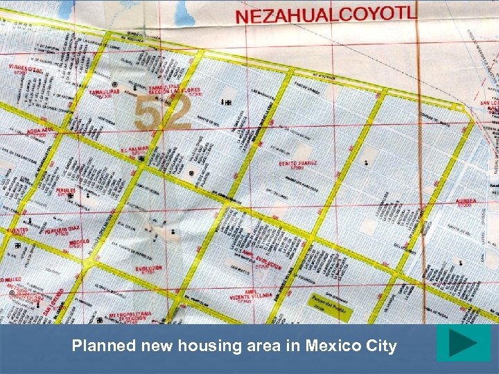 Planned new housing area in Mexico City