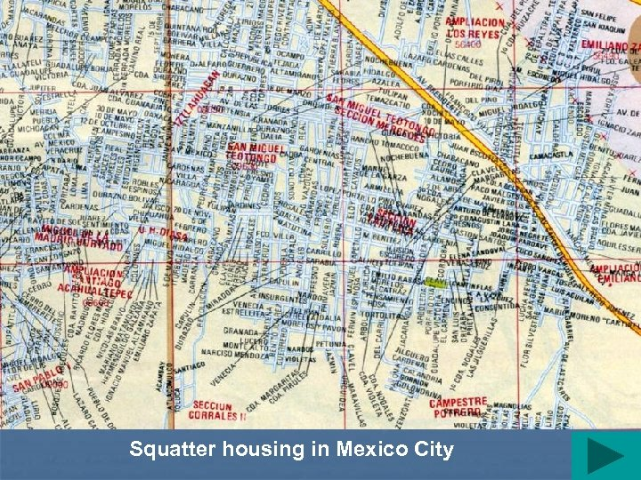 Squatter housing in Mexico City