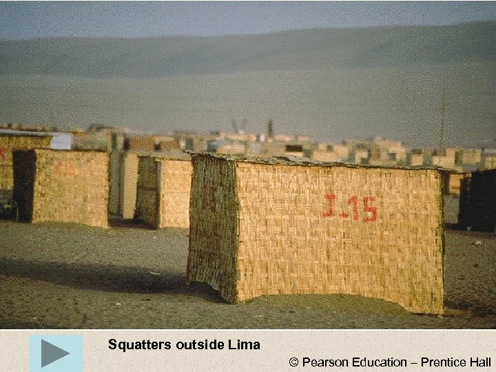 Squatters outside Lima © Pearson Education – Prentice Hall
