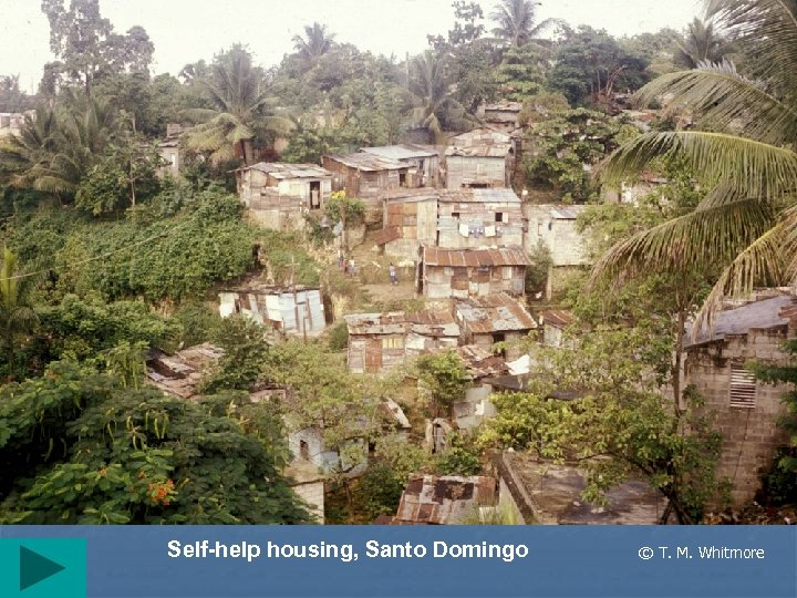Self-help housing, Santo Domingo © T. M. Whitmore