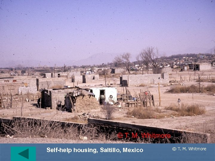 Self-help housing, Saltillo, Mexico © T. M. Whitmore