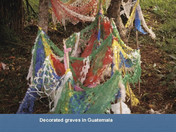 Decorated graves in Guatemala