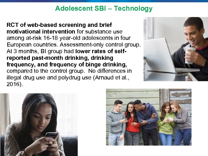 Adolescent SBI – Technology RCT of web-based screening and brief motivational intervention for substance