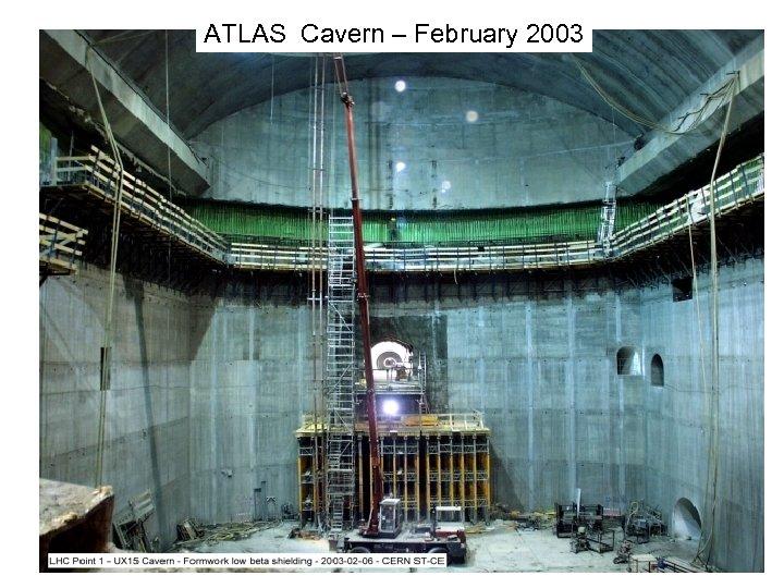 ATLAS Cavern – February 2003