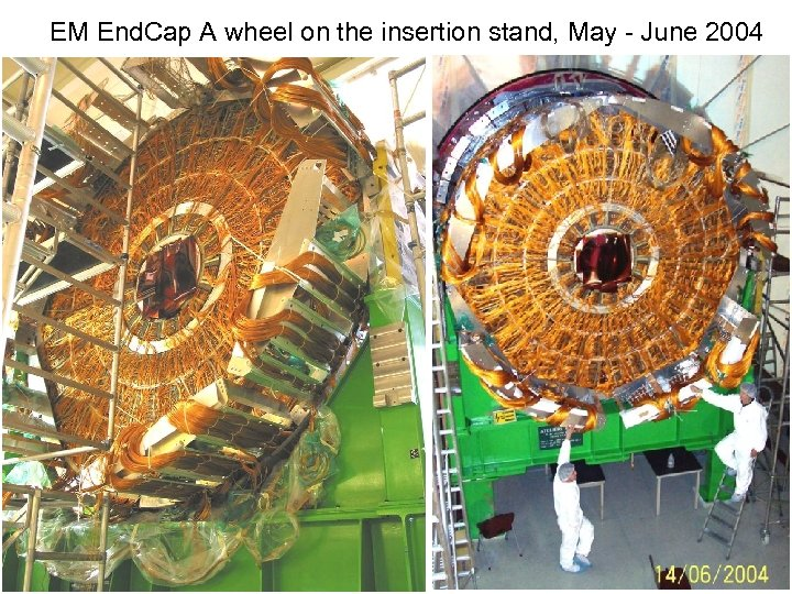 EM End. Cap A wheel on the insertion stand, May - June 2004