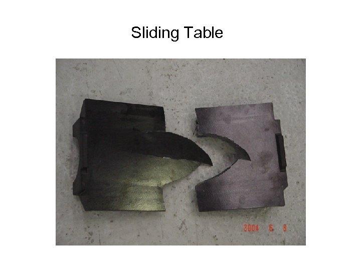 Sliding Table