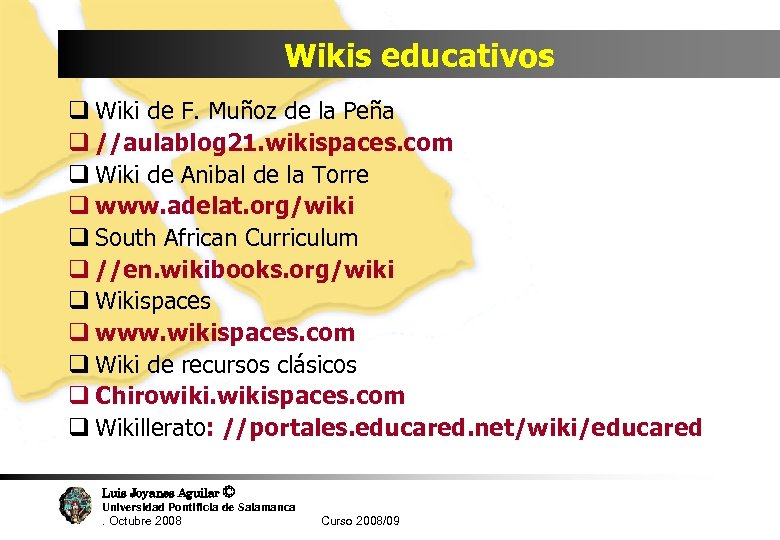 Wikis educativos q Wiki de F. Muñoz de la Peña q //aulablog 21. wikispaces.